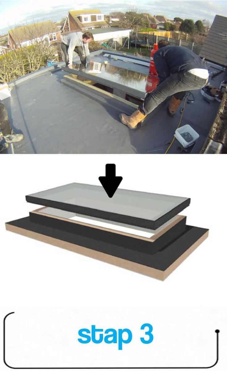 Steg 3: Montering av takfönster