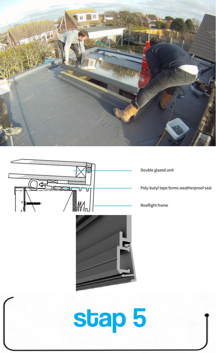 Steg 5: Placera takfönstret
