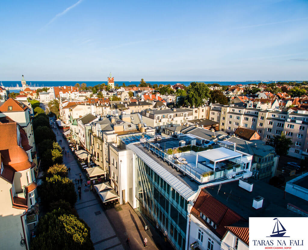 Takterrass med utsikt över Östersjön