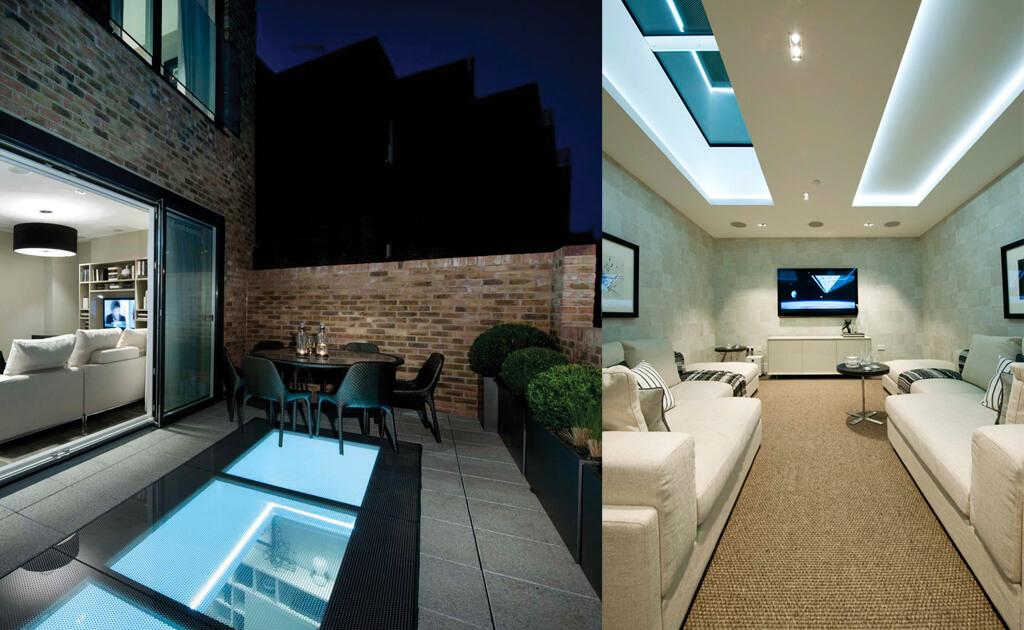 Ett ännu större takfönster i en takterrass