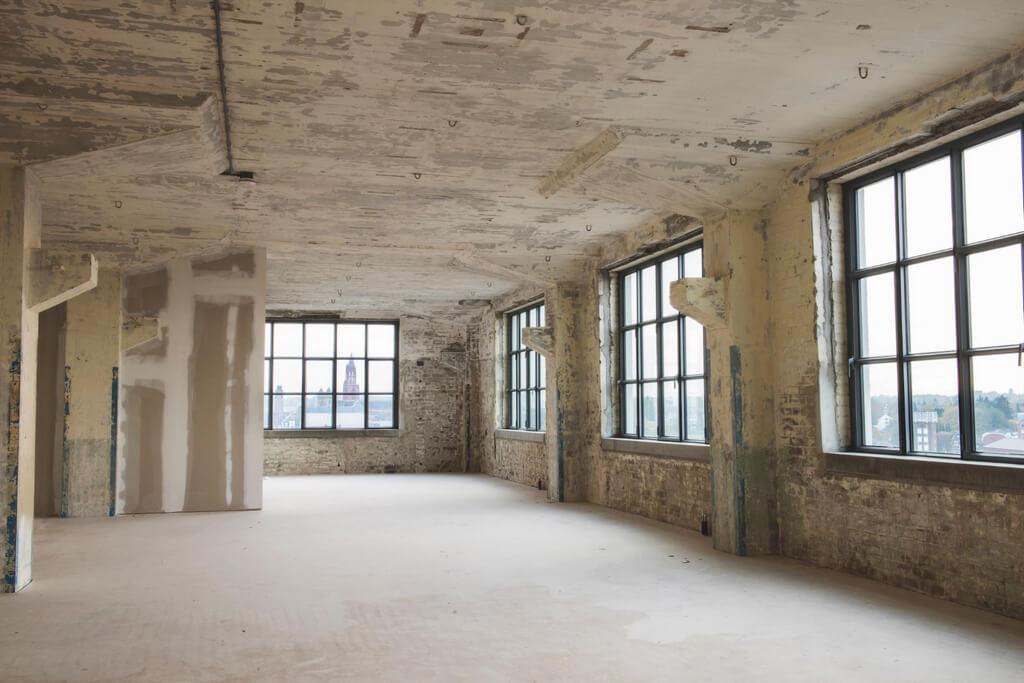 Industriella loft med takterrass