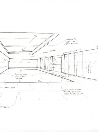 Bespoke Bi Parting Sliding Over Fixed Concept Sketch