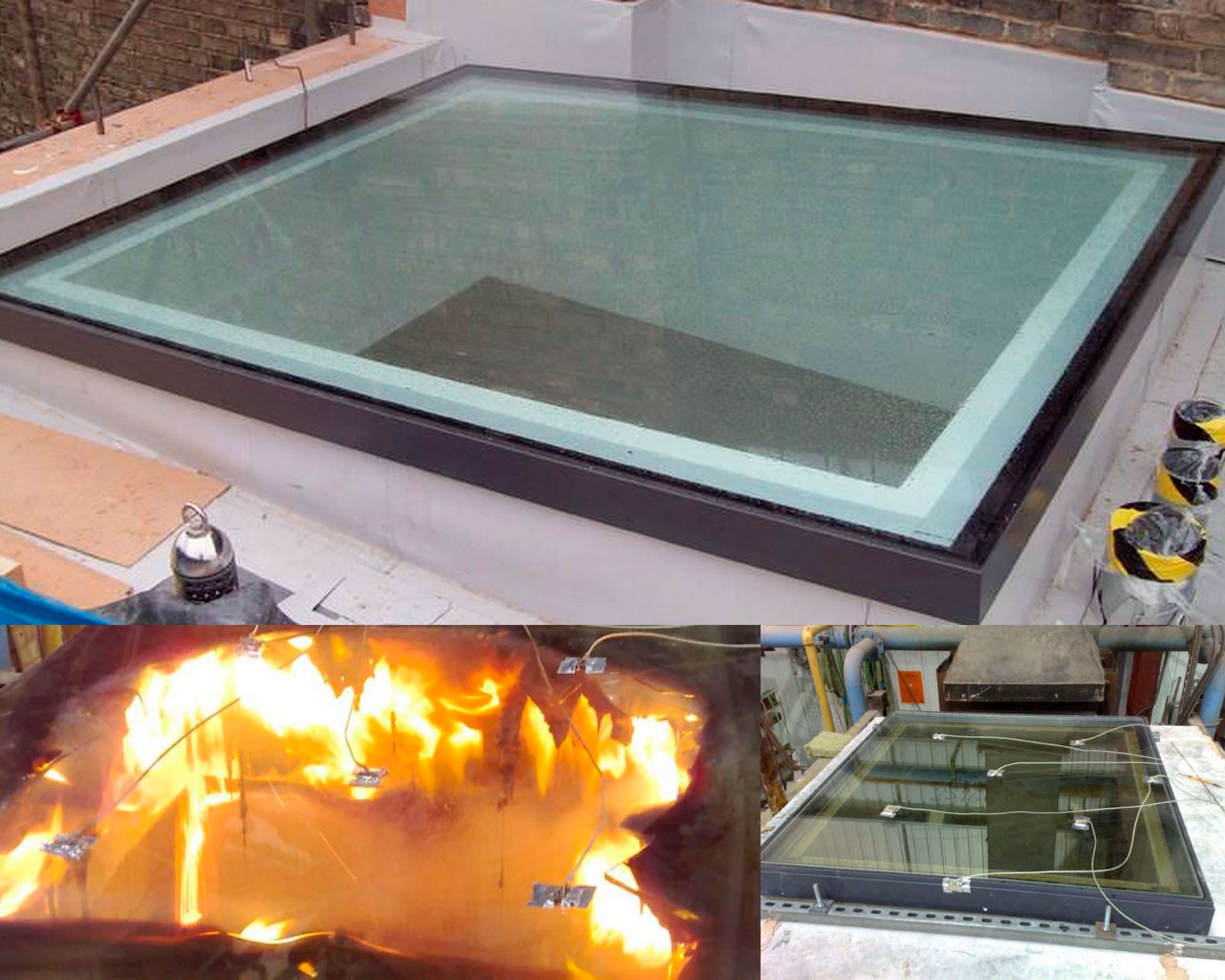 Fire Rated Roofing : Fire rated rooflight minutes integrity glazing