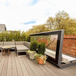 Hinged access rooflight: Skydoor Hinged Access - Glazing Vision Europe