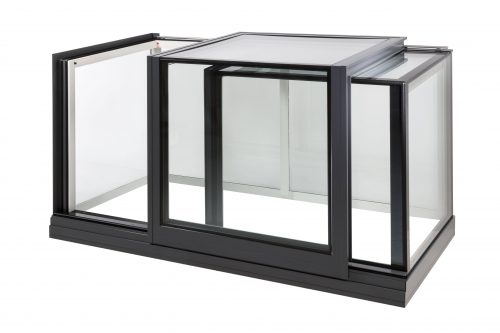 Sliding box roof access - Freestanding Box Rooflight - Glazing Vision