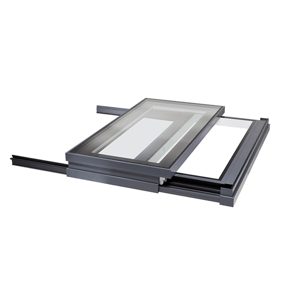 Sliding Access Hatch Sliding Over Roof Glazing Vision Europe