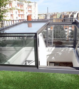 Freestanding Box Rooflight - Glazing Vision Europe - Paris