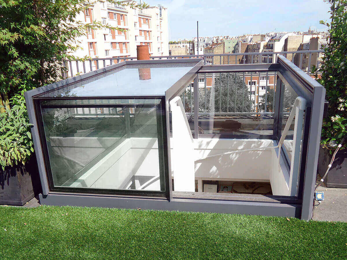Sliding Box Roof Access Freestanding Box Rooflight