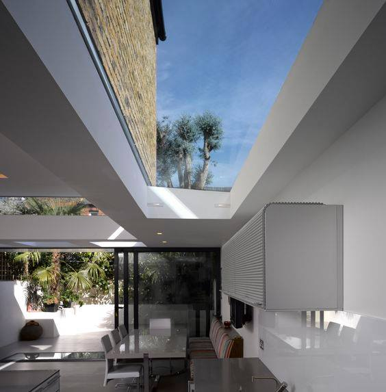 A Completely Frameless Rooflight Brings The Outside In.
