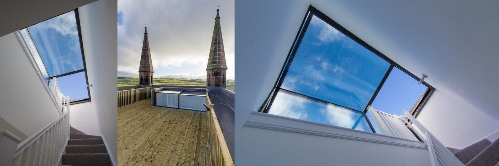 Innovative box rooflight for luxury apartment