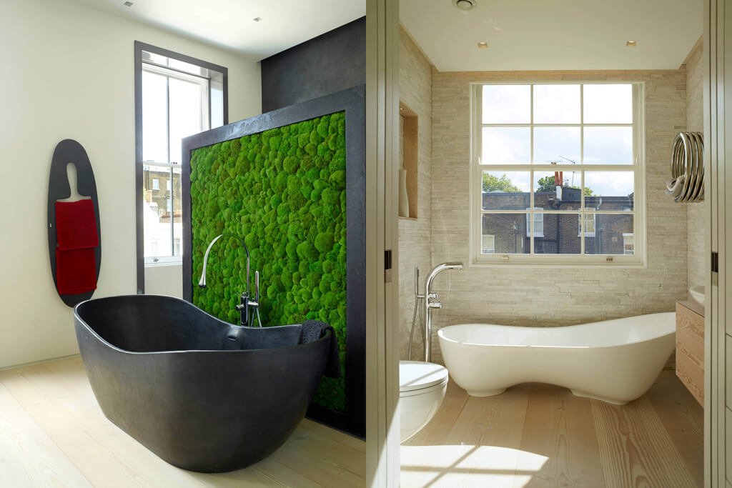 Glebe Place by Stephen Fletcher Architects bathrooms