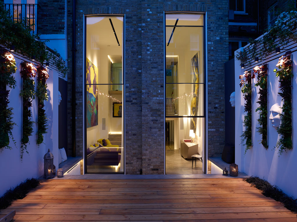 Sliding Rooflight on roof terrace Glebe Place by Stephen Fletcher Architects