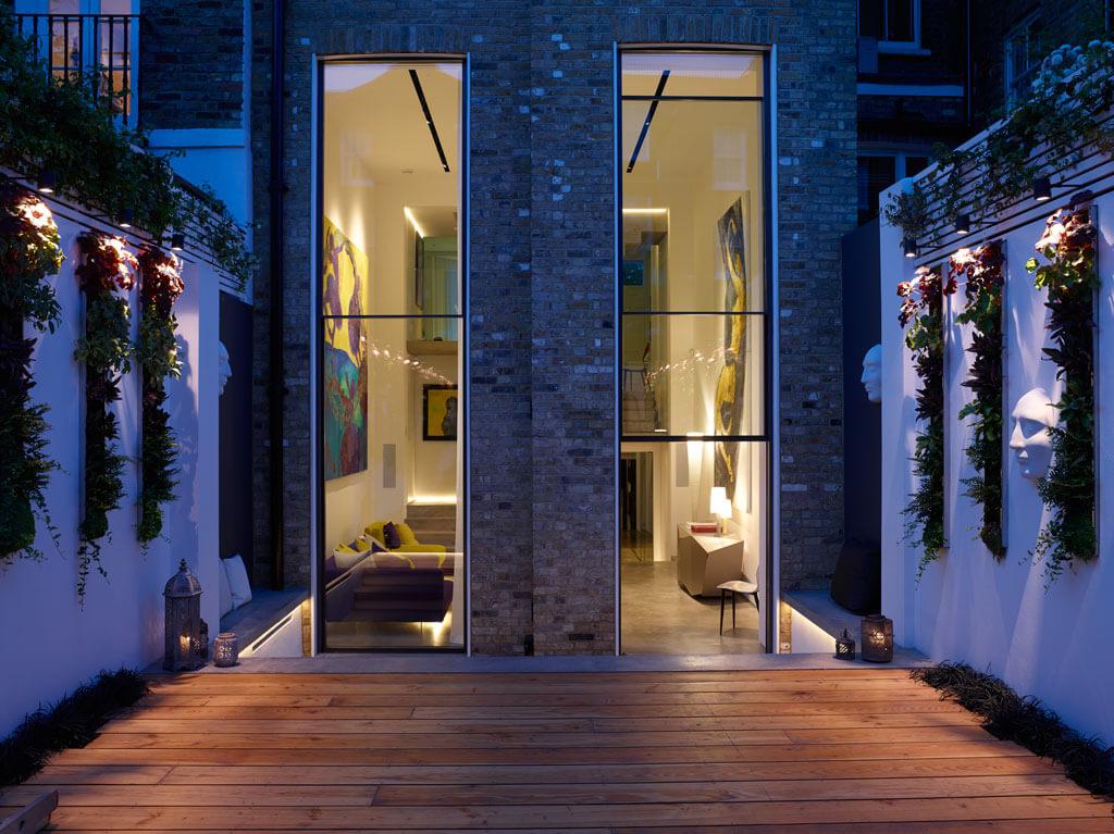 Sliding Rooflight on roof terrace Glebe Place by Stephen Fletcher Architects