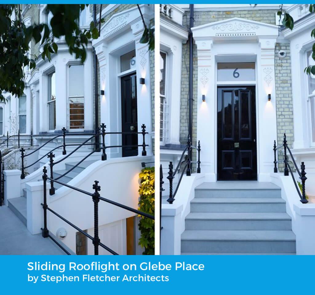 Sliding Rooflight on Glebe Place by Stephen Fletcher Architects