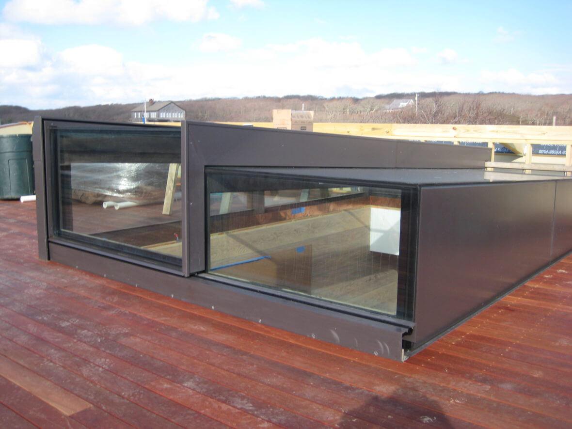 Sliding Rooflight tijdens installatie