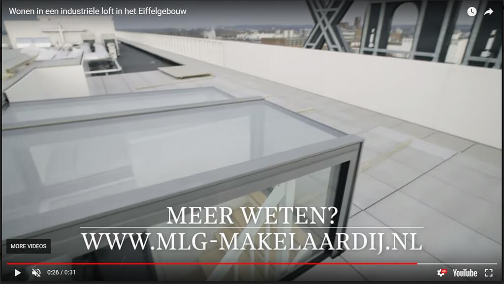 Video Freestanding Box on Loft Eiffel building