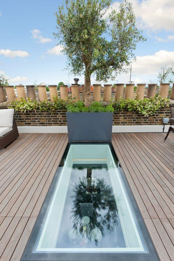 Walkon glass roof terrace