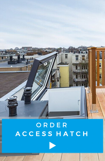 Order access hatch roof terrace